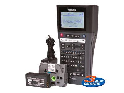 office-partner.de Brother P-Touch PT-H500LI (180dpi, bis zu 30 mm/Sekunde, 3,5/6/9/12/18/24 mm TZe)(PTH500LIG1)