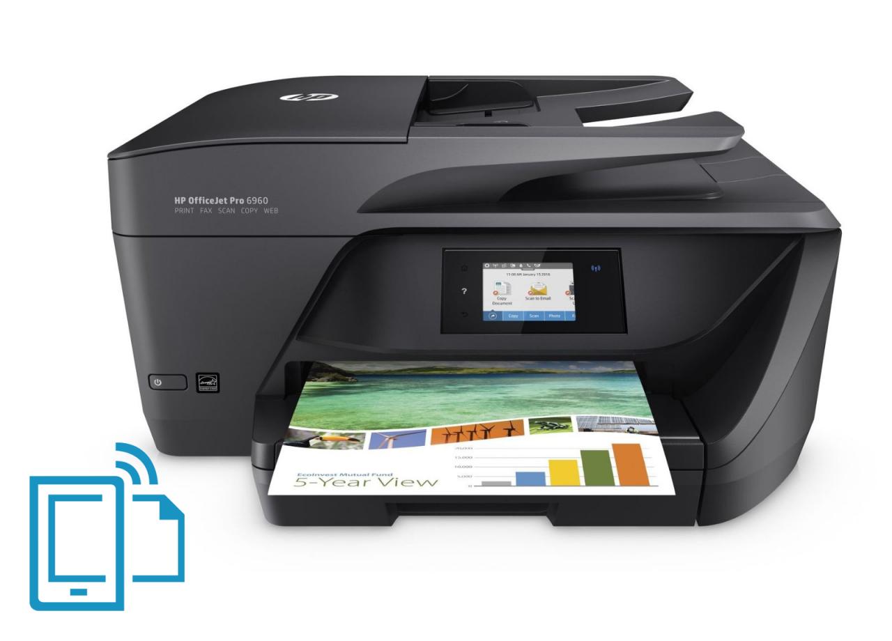 office-partner.de 3 Jahre Garantie - Kostenlos -> HP OfficeJet Pro 6960 Tintenstrahl-Multifunktionsdrucker